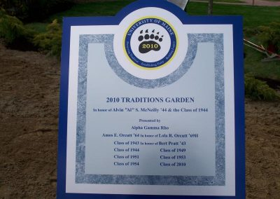 Traditions Garden entrance sign