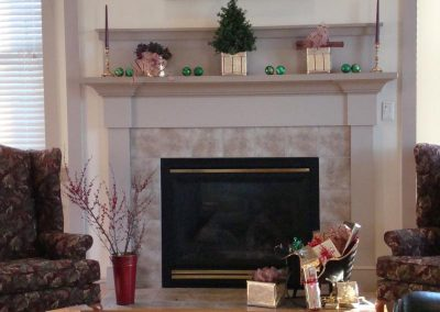 Christmas at the Treat Room fireplace