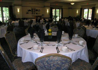 McIntire Room - banquet setup