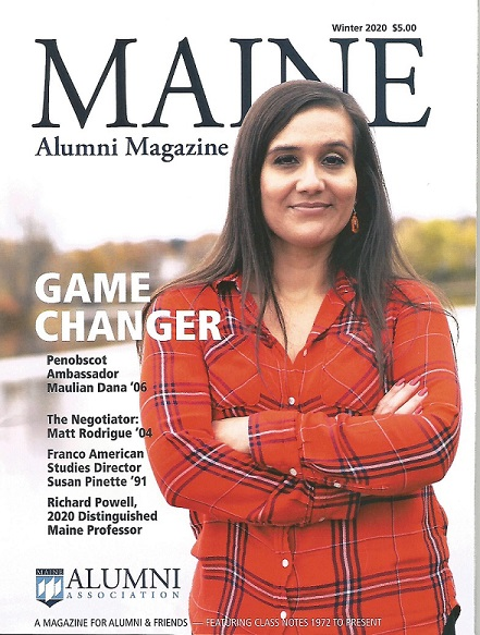 The front page of the Alumni Magazine's Winter 2020 Issue