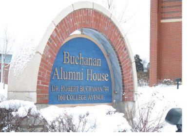 Buchanan Sign in Winter