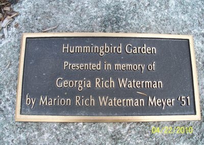 Hummingbird Garden Sign